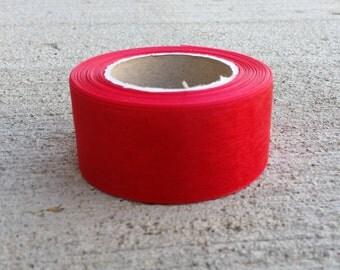 """1-1/2"""" Red - Organza Ribbon"""