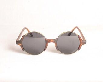 Skipper Vintage Round Tortoise Sunglasses