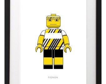 Hardman of Lego Cycling Print - Fignon