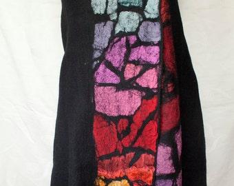 Black-Colorful Handmade Felted Vest