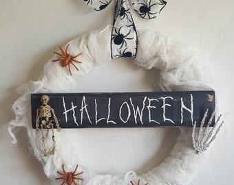 Handmade Halloween gauze wreath
