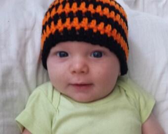 Baby Halloween Hat Newborn Photography Prop Shower Gift Costume Orange and Black