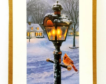 Vintage Darrell Bush Print Signed (One When From Original Painting and One After Print Was Made) Warmth of Winter II 1994 New