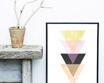 Triangle Print, Geometric Art Print, Geometric Wall Art, Scandinavian Print, Abstract Art Print, Giclee print, Modern Wall Art, Home Decor