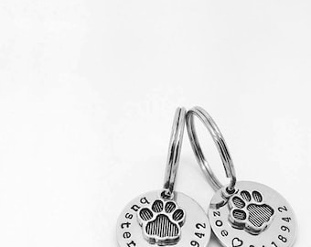 Personalized Dog Tag, Pet Tag, Pet ID Tag, Hand Stamped Dog Tag, Custom Dog Tag, Dog Collar, Custom Pet Tag, Call My People