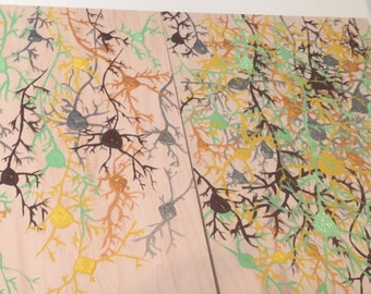 Neurons: Acrylic painting on oak wood panels
