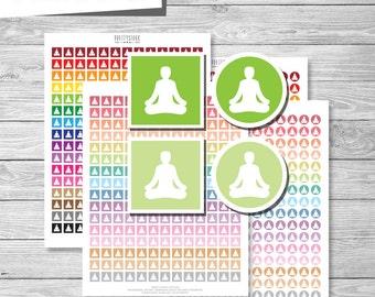 Yoga Stickers, Yoga Planner Stickers, Yoga Printable Stickers, Planner Stickers, Yoga Planner Stickers, Printable Planner Stickers - PS187