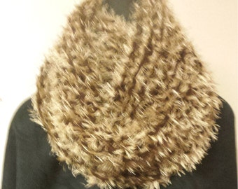 Small Brown Fun Fur Cowl