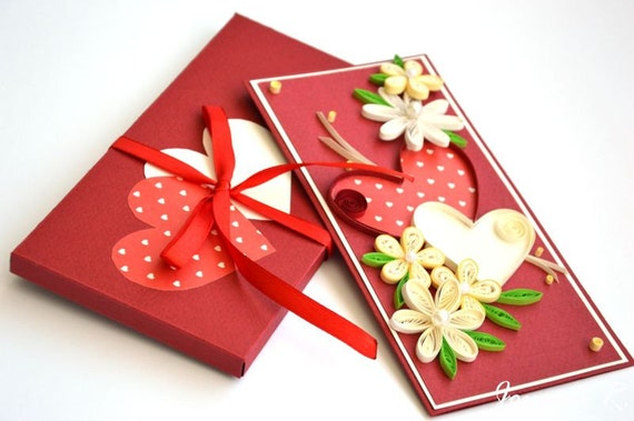 VALENTINE QUILLING CARD Quilling cards  Greeting cards
