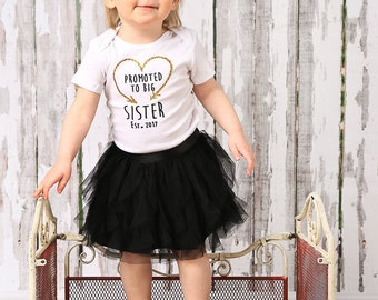 Promoted to Big Sister Glitter Iron On Transfer, DIY, Big Sister Shirt, Pregnancy Announcement, Big Sister Announcement, Effective Date