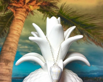 Hawaiian Cone Shell Necklace - Sterling Silver - Beach Jewelry