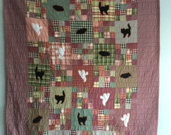 Ghosts, Goblins and Ghouls Hand-Stitched Quilt