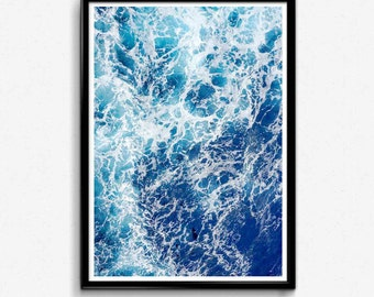 Ocean Print, Ocean wall art, Ocean Printable, Ocean Art, Ocean Waves Art, Ocean Photography, Water Waves Printable, Ocean Waves, Ocean Water