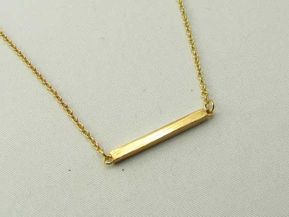 dainty horizontal bar necklace bar necklace by. Black Bedroom Furniture Sets. Home Design Ideas