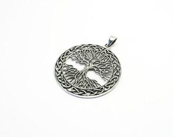 Great life tree world tree Silver 925 Wicca jewelry pendant