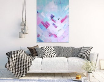 Abstract Art Print, Modern Art, Wall Art, Abstract Painting , Abstract Art, Giclee Print, Blue And PinkAbstract, Pink Art, Wall Decor