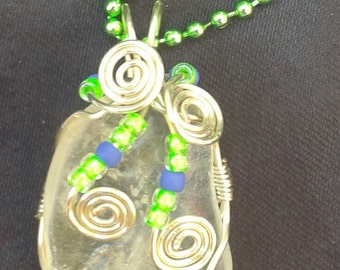 Wire Wrapped Crystal Pendant