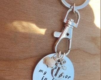 Anniversary gift for a Woman or a Man// Your my Anchor Keyring //