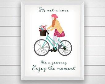 Bicycle art, vintage print, wall art printable, modern wall art, home decor print, printable gift, wall decor, poster art, digital art print