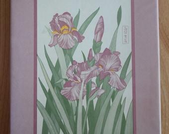 Vintage Eaton Iris Garden Stationary Set/unopened/iris flower stationary/Textron/1983 stationary/box set vintage stationary