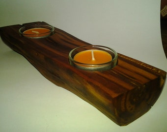 Tea light holder wood wooden tea light holder