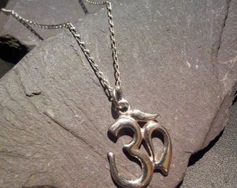 Sterling Silver Ohm Pendant with chain