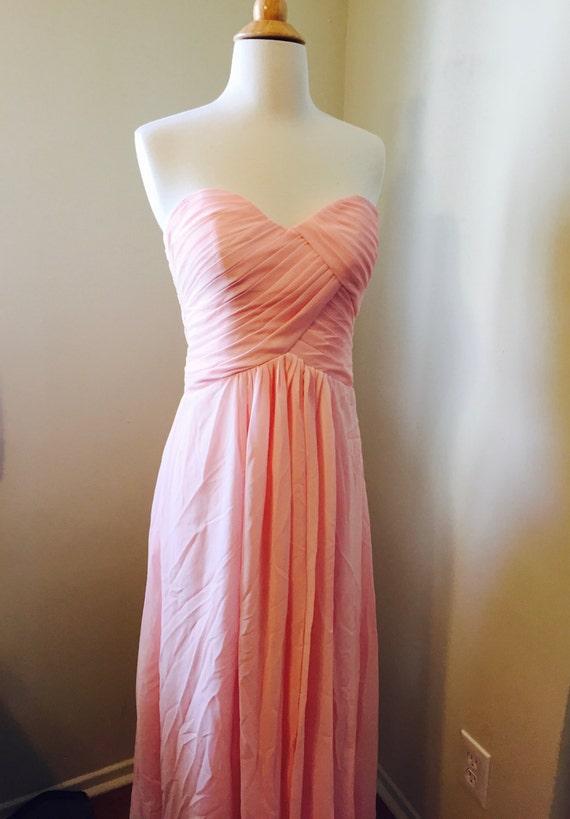 Vintage heart shaped pink wedding dress pink prom dress pink for Heart shaped wedding dress