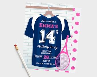 Tennis Birthday Invitation, Tennis Birthday Invitations, Tennis Birthday Party, Tennis Birthday, Tennis Invites, Tennis Themed, Tennis Party