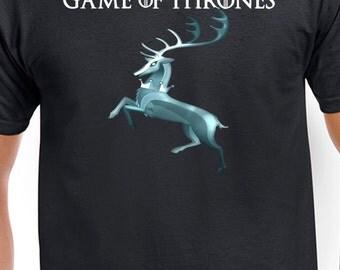 Game of Thrones House Baratheon Sigil T-Shirt GOT Black Stag Tee