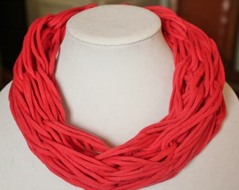 Small Lightweight Salmon Arm Knit Infinity Scarf