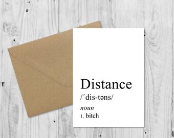 C008 Long distance relationship, Definition Card, Boyfriend Card, Boyfriend Gift, Birthday Card, Anniversary Card, Valentines Card, LDR Card