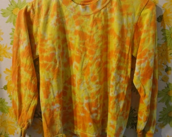 Tie Dye Orange and Yellow Long sleeve T-shirt