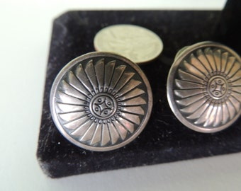 Silver Round Classic Earrings