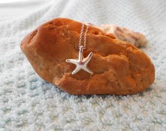 """Tiffany & Co Sterling Silver Elsa Peretti Starfish Necklace Pendant 16"""""""