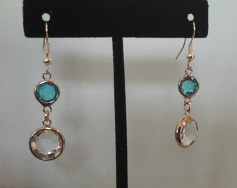 Blue & Clear Earrings