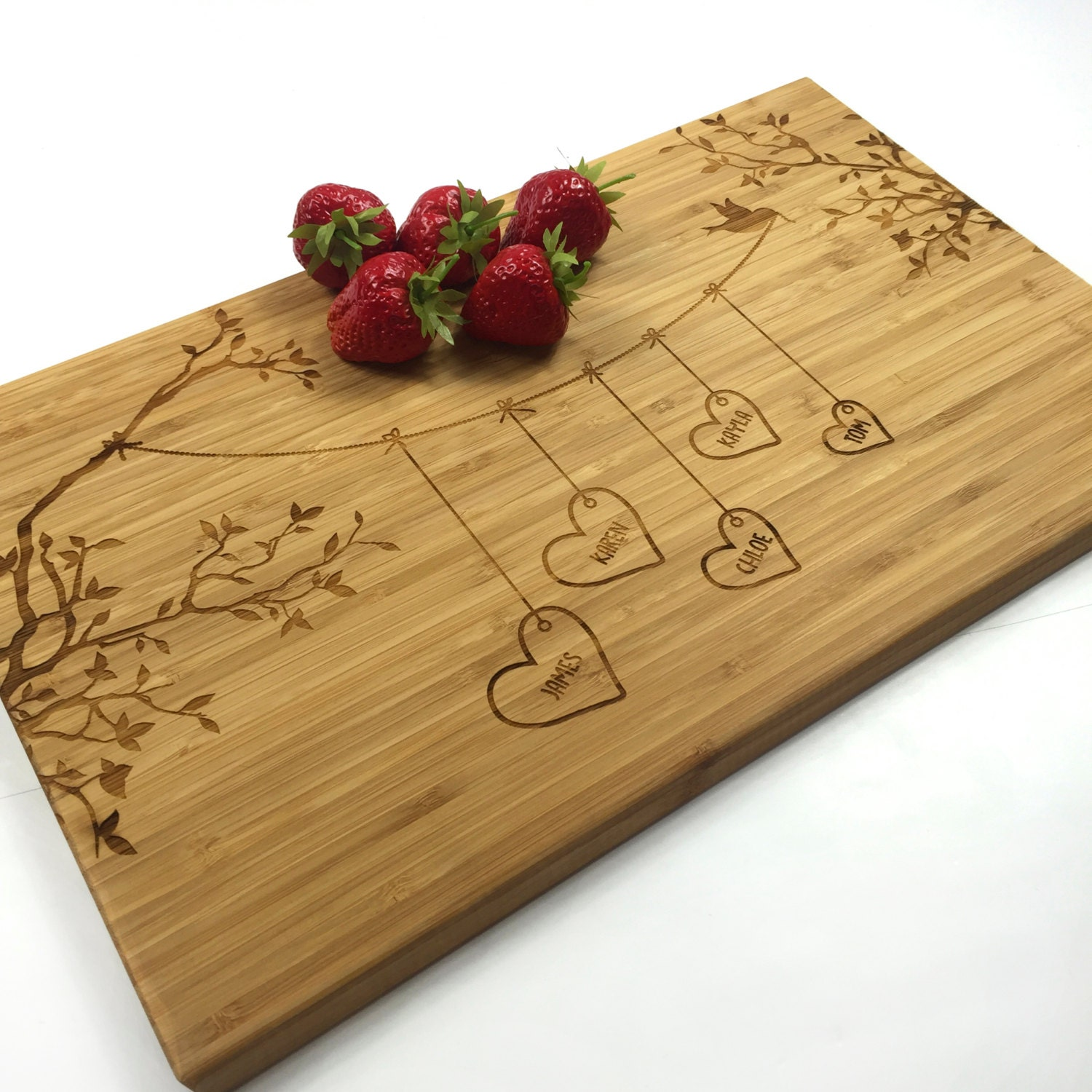 Personalized Cutting Boards ~ Cutting board personalized wedding gift blended family names