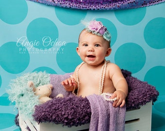 Seafoam Polka Dot Photography Backdrop (PTN-PKA-004)