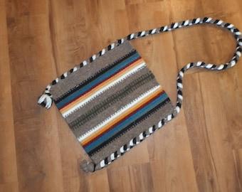 Dyed wool bag