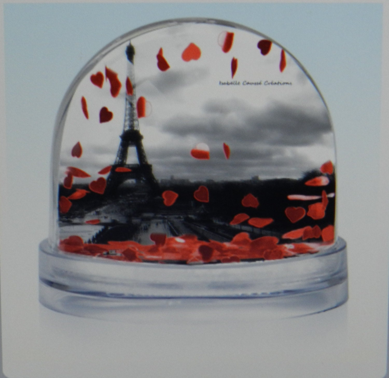 Light Tower Globes: Snow Globe Eiffel Tower Paris Photos Paris Souvenir Paris Gift