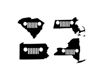 Jeep Grille State Decal