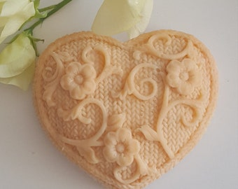 Beautiful Heart Shaped Soap, Nursing, Aromatic, Handmade Soap.