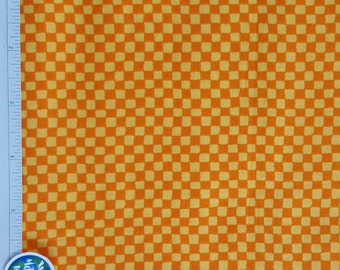 """Checkerboard Fabric, Yellow and Orange Check Fabric, """"Party Parade by P&B Textiles, 100% Cotton, Quilt fabric, Bright colors, BTY, BTHY, OOP"""