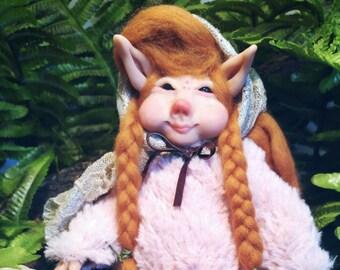Fairy pink art doll fantasy