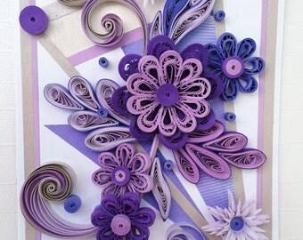 Unique Handmade Quilled Card