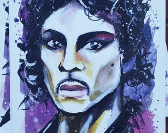 Prince Watercolor Print 6X9