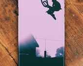 Cell phone case - iphone case - Extreme Sports - iPhone 7 case - Mountain bike art - Samsung phone case - Galaxy phone case - bike phone