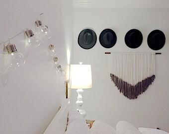 3' Wide Denim Dip Dyed Wall Hanging