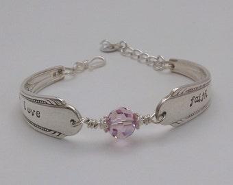 Love & Faith Vintage Silverware Bracelet