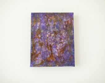 Purple Encaustic Revealed