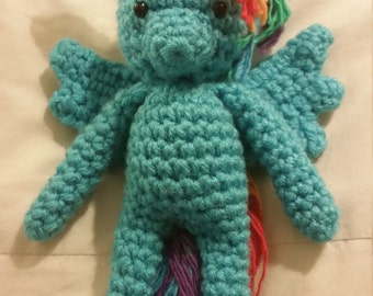 "My Little Pony Rainbow Dash ""Hearth's warming"" crochet Doll"
